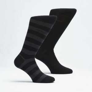 Hugo Boss 2-pack Blockstripe Socks 001 Black/Stripe