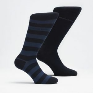 Hugo Boss 2-pack Blockstripe Socks 401 Navy/Stripe