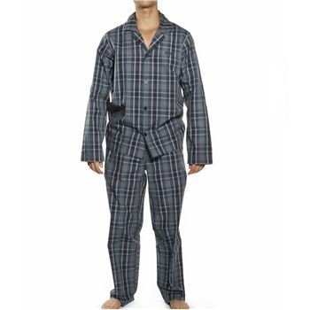 Hugo Boss Gift Box Pyjamas Check Open Blue