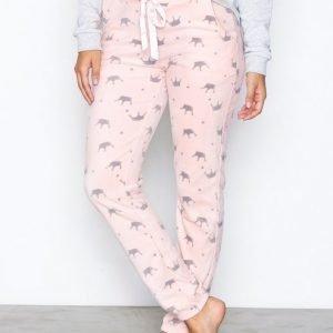 Hunkemöller Crown Pant Pyjamasetti Vaaleanpunainen