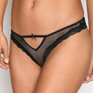 Hunkemöller Low Lace-Up Back Brief Brazilian Alushousut Musta