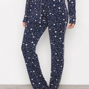 Hunkemöller Moon Jersey Pant Pyjamahousut Vaaleanpunainen