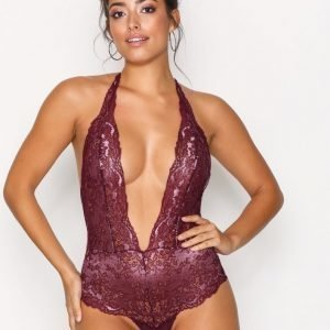 Hunkemöller Rebel High Leg Halter Body Violetti