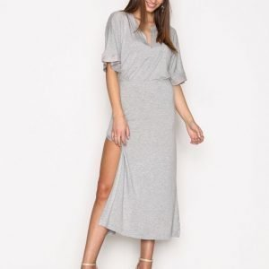 Hunkydory Billie Jersey Dress Maksimekko Light Grey Melange