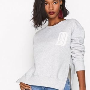 Hunkydory H.D Zip Crew Svetari Light Grey Melange