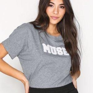 Hunkydory Leah Muse Jersey T-Paita Dark Grey Melange