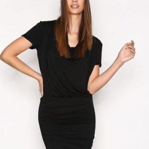 Hunkydory Tahae Jersey Dress Loose Fit Mekko Black