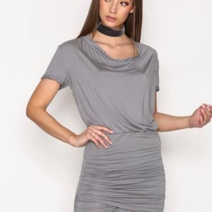 Hunkydory Tahae Jersey Dress Loose Fit Mekko Stone Grey
