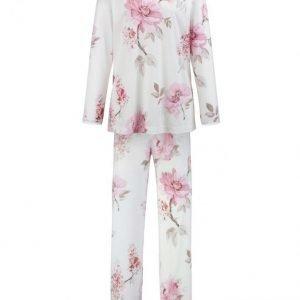 Hutschreuther Pyjama Ecru / Roosa / Harmaanruskea