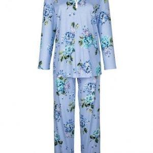Hutschreuther Pyjama Vaaleansininen / Vihreä / Syreeni