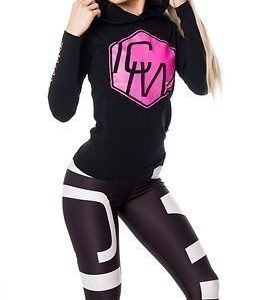 ICANIWILL Hoodie Black-Pink