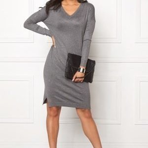 ICHI Mafa Dress Dark Grey Melange