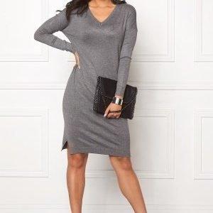 ICHI Mafa Dress Dark Grey Melange