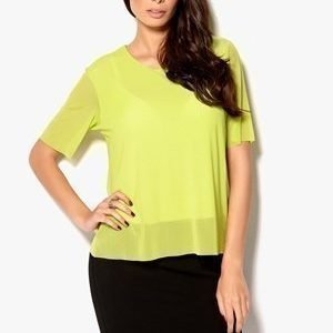 INTRO//MUSE Feenix Mesh Top Lime