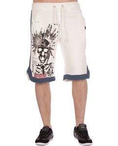 Indian Skull Shorts White