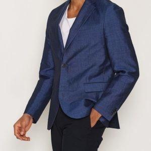J Lindeberg Hopper Dressed Linen Bleiseri Blue Melange