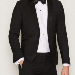 J Lindeberg Savile SC Soft Comfort Wool Smokki Black