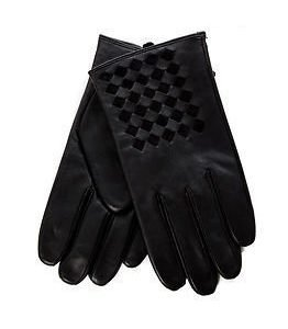 J.Lindeberg Braided Gloves Leather Black