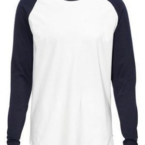JACK&JONES T-paita Stan tee Offwhite Laivastonsininen