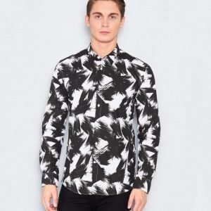 JUNK de LUXE Allover Print Shirt Black