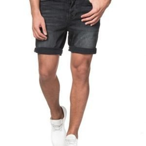 JUNK de LUXE Black Washed Denim Shorts