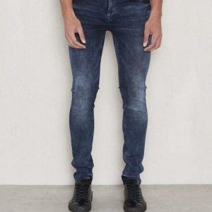 JUNK de LUXE DK Night Washed Skinny Jeans Blue