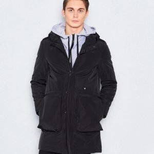 JUNK de LUXE Padded Parka Coat Black