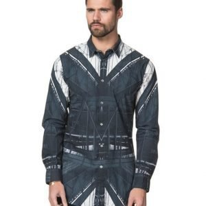 JUNK de LUXE Placement Print LS Longshirt Black
