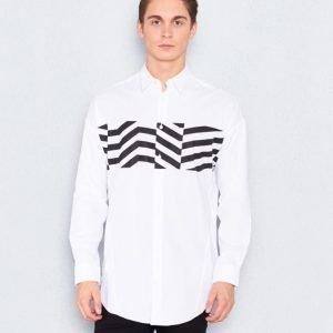 JUNK de LUXE Printed LS Shirt White