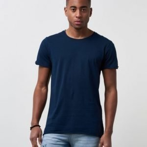 JUNK de LUXE Tim Raw Edge Tee Navy