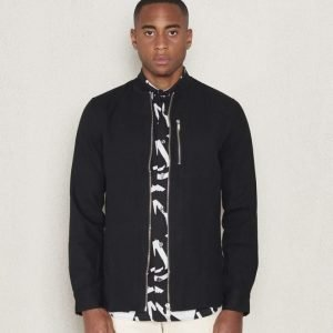JUNK de LUXE Zip Canvas Shirt Black