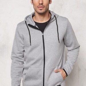 Jack & Jones Basic Sweat Zip Hood Light Grey Melange