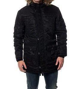 Jack & Jones Date Parka Jacket Black