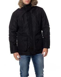 Jack & Jones Hollow Parka Jacket Black