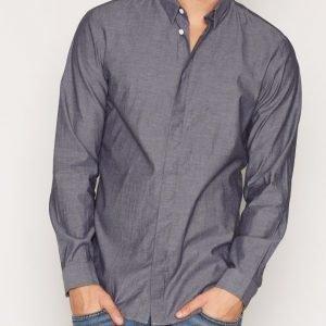 Jack & Jones Jcocrane Shirt L/S no Pocket Kauluspaita Tummanharmaa