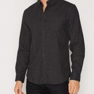 Jack & Jones Jcohamilton Shirt L/S One Pocket Kauluspaita Musta