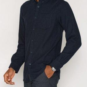 Jack & Jones Jcohamilton Shirt L/S One Pocket Kauluspaita Tummansininen