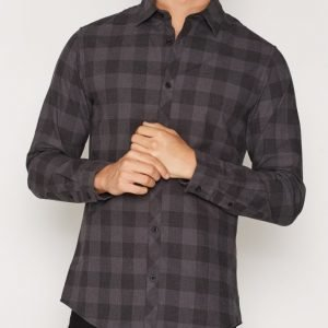 Jack & Jones Jcojames Shirt L/S no Pocket Noos Kauluspaita Musta