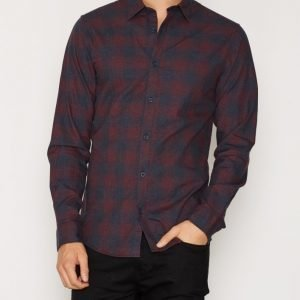 Jack & Jones Jcojames Shirt L/S no Pocket Noos Kauluspaita Tummansininen