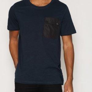 Jack & Jones Jcomule Tee Ss Crew Neck T-paita Tummansininen