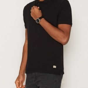 Jack & Jones Jjvwilliam Ss Polo Noos Pikeepaita Musta