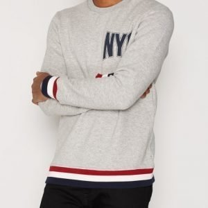 Jack & Jones Joruni Sweat Crew Neck Sweat Ls Swetari Vaaleanharmaa