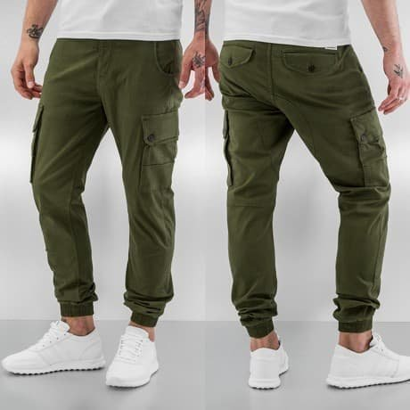 Jack & Jones Reisitaskuhousut Oliivi