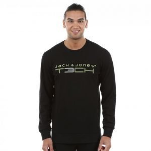 Jack & Jones Tech 2nf Sweat Crew Neck Treenipusero Musta