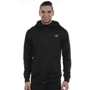 Jack & Jones Tech Training 5 Hooded Fz Sweatshirt Vetoketjuhuppari Musta
