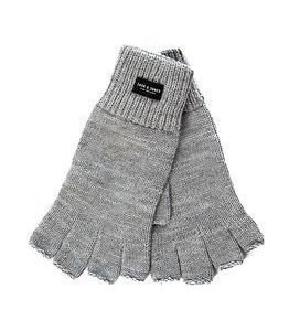 Jack & Jones Thumps Up Fingerless Knit Gloves Light Grey Melange