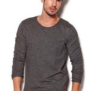 Jack & Jones Vintage Attend Knit Crew Neck Dark Grey Melange
