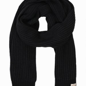 Jack & Jones jjvAUTHENTIC Knit Scarf Kaulahuivi Musta