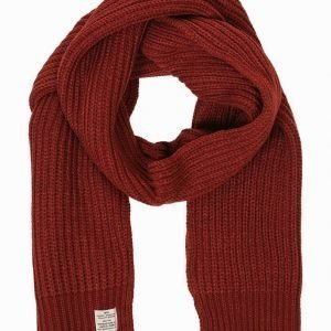 Jack & Jones jjvAUTHENTIC Knit Scarf Kaulahuivi Tummanpunainen