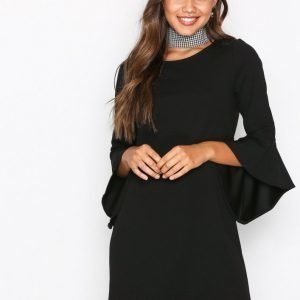 Jacqueline De Yong Jdybernadette Bell Sleeve Dress Jr Juhlamekko Musta